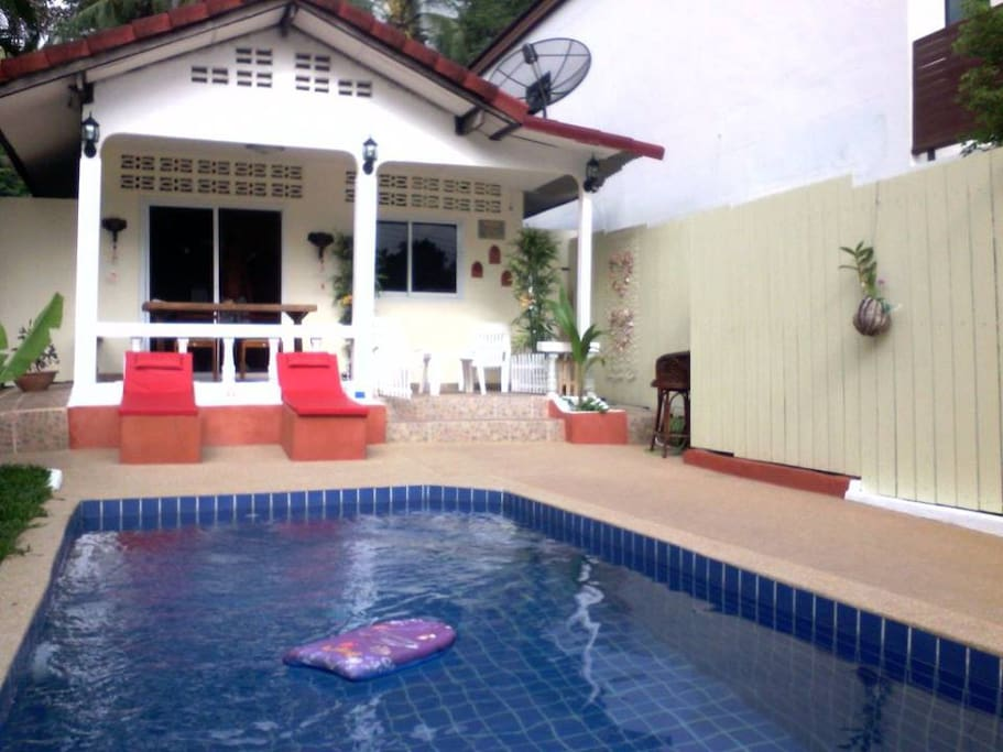 Private outdoor Pool & Porch