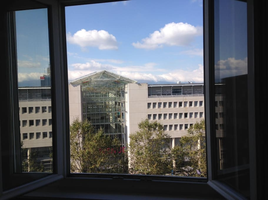 View from bedroom window - Univ of Geneva (UNIGE)
