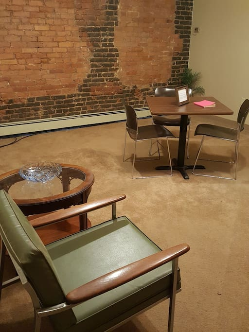 Front Room with table and seating