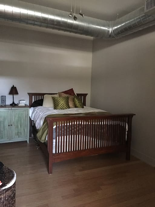 One bedroom attached to living room and closet. Doors can close off both.