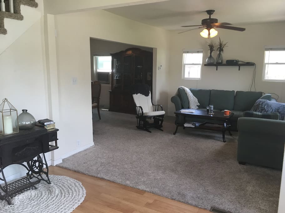 Entryway and living room