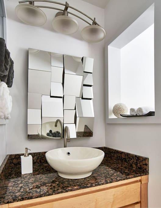 Clean spa-like bathroom