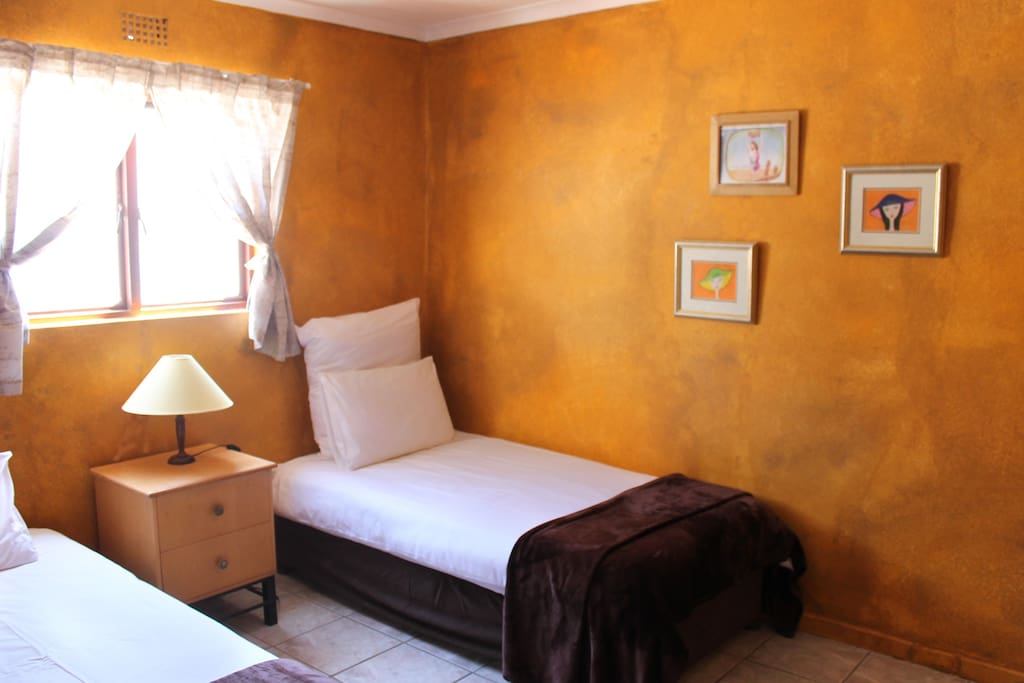 Twin room (2 single beds or king sized bed)