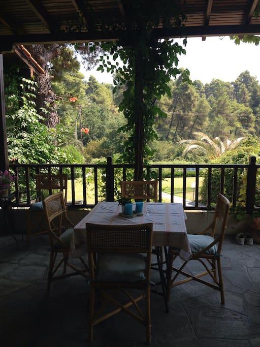 Main Veranda with a view to the garden