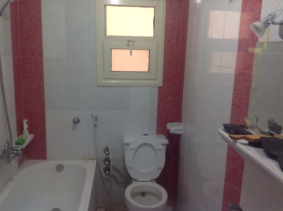The first bathroom.. It's fully equipped with all needs including a water heating.
