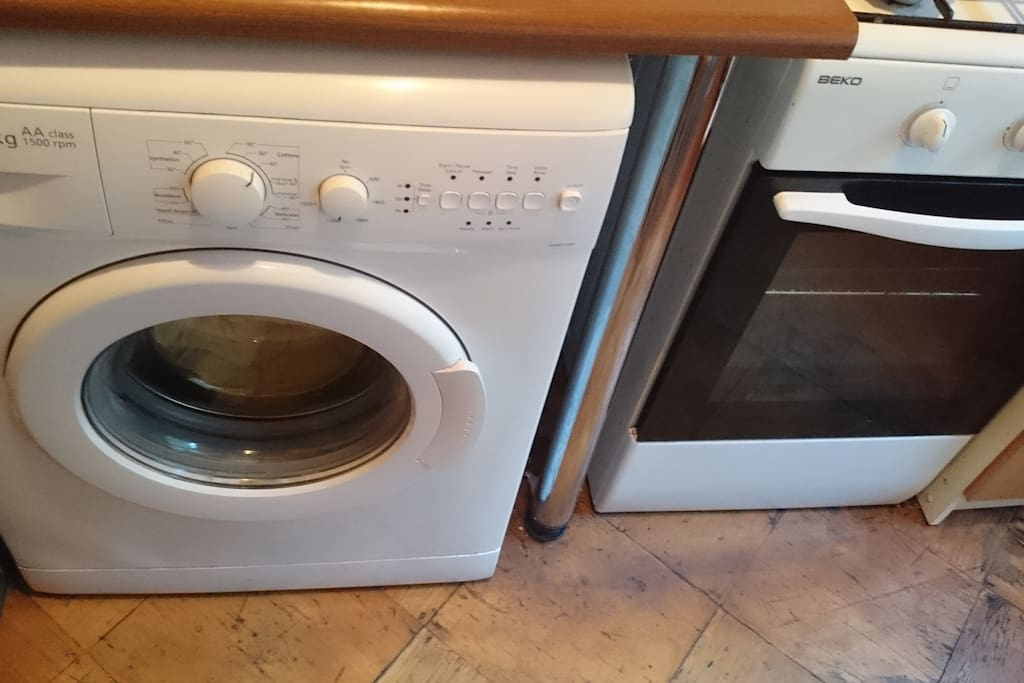 washing machine and gas oven