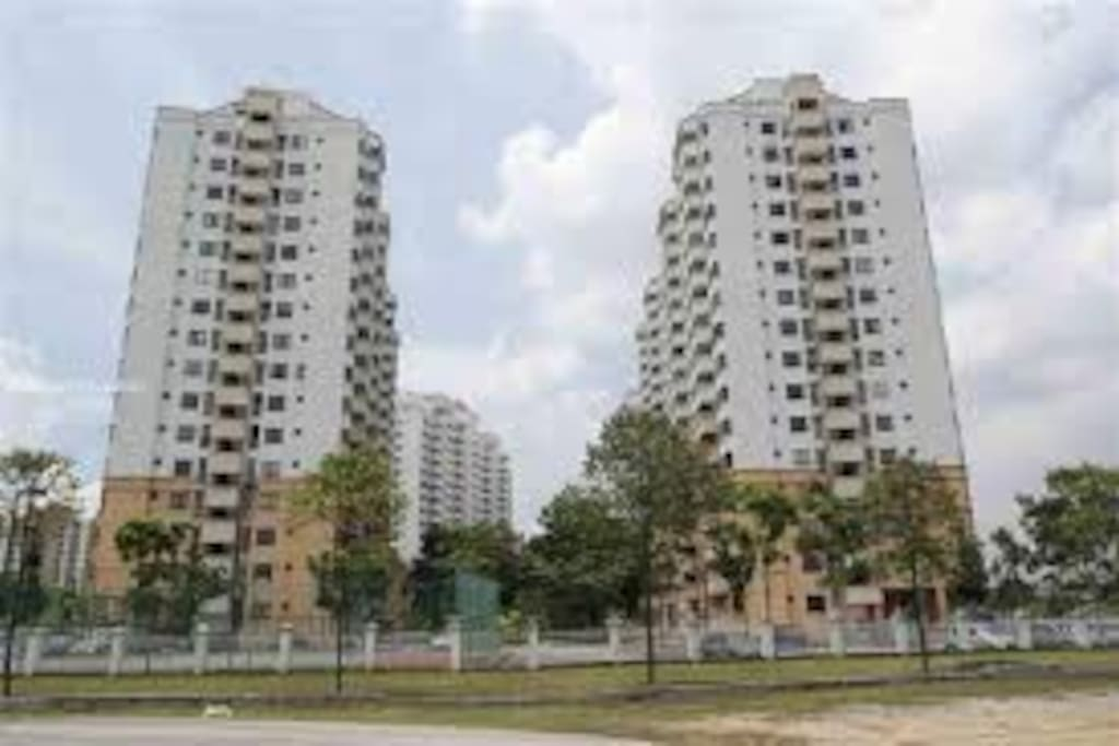 4 block of condominiums outside view