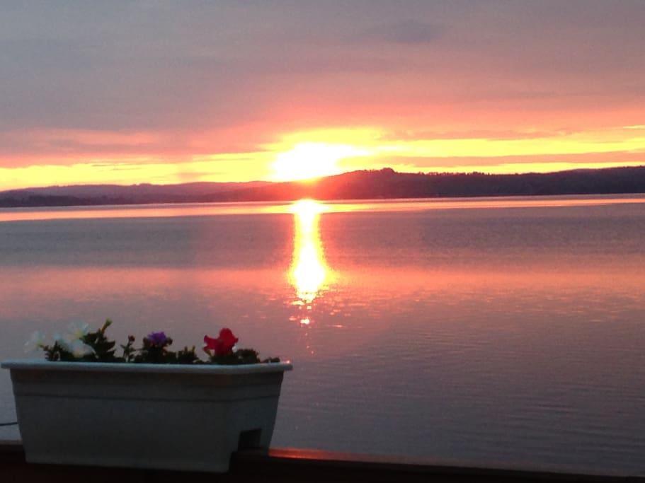 Sunrise on Lake Memphremagog