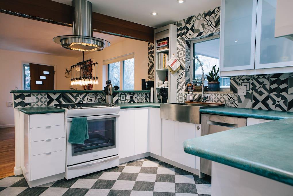 Newly updated chef's kitchen