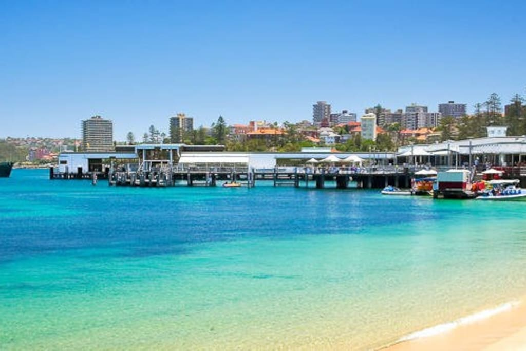 200m to Manly Cove Beach and the Ferry Wharf another 200m up the beach
