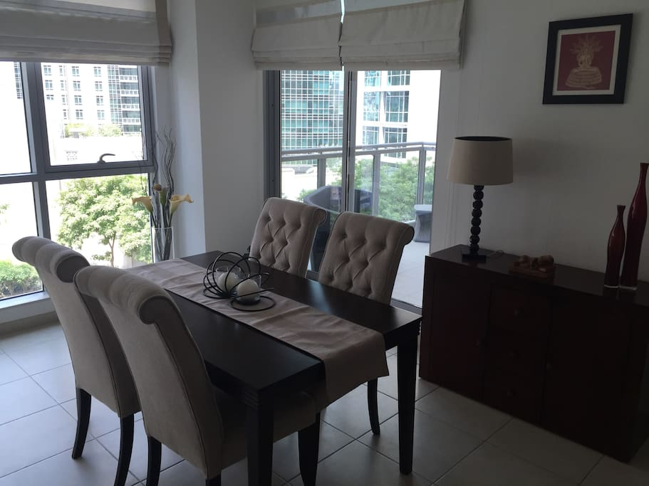 Dining Area with balcony view