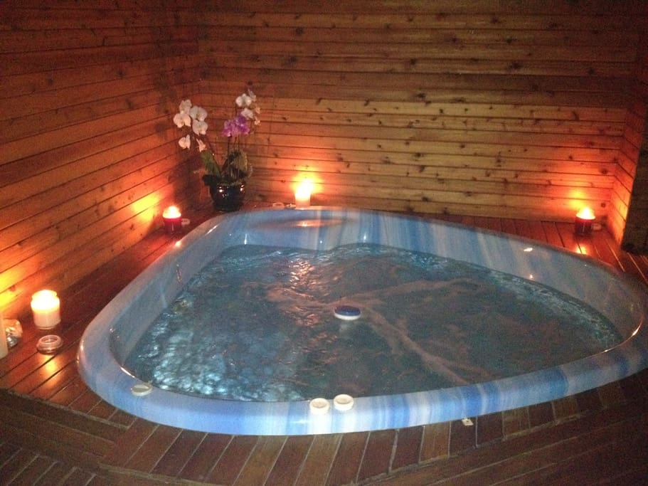 Hot Tub is Private to the Suite