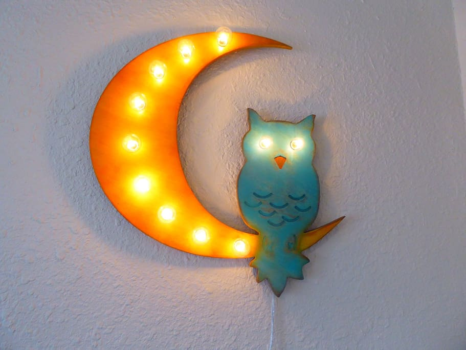 Late check in is no problem with our keyless security.  The owl will wait up for you.