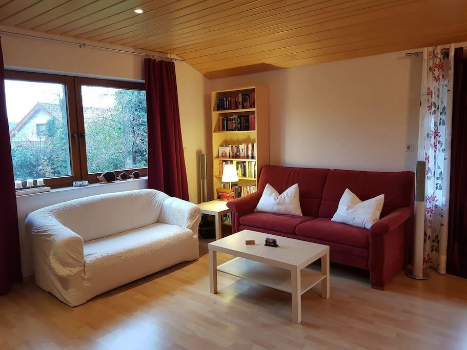 Wohnzimmer mit 2 Sofas