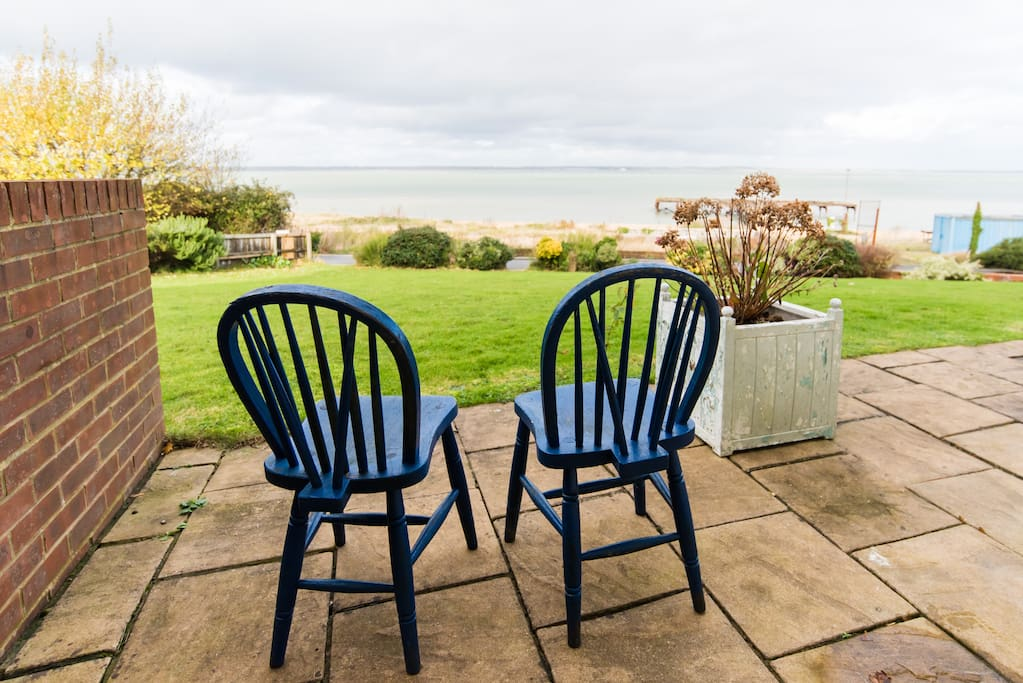 Sit outside the bedroom for sea-air!