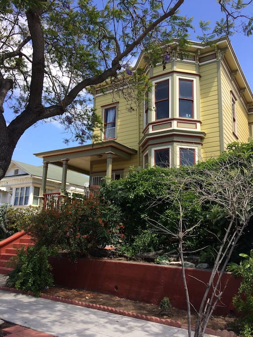 Views of Coronado from this upstairs home in a 1890's historic Victorian