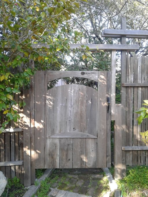 "The Bnb Entry Gate to Oak Suite and ""The Camelia Garden"""