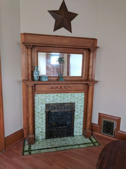 Decommissioned gas fireplace