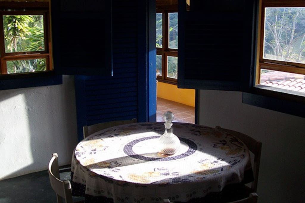 inside dining table
