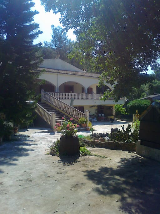 part of the front view, staircase to terrace