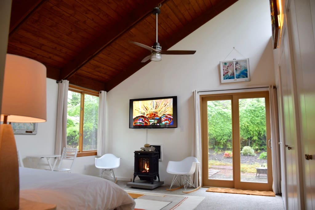 Vaulted Wood beamed ceiling
