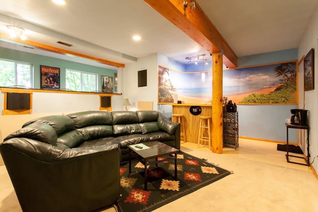Home Theater Room / Tiki Bar Kitchenette