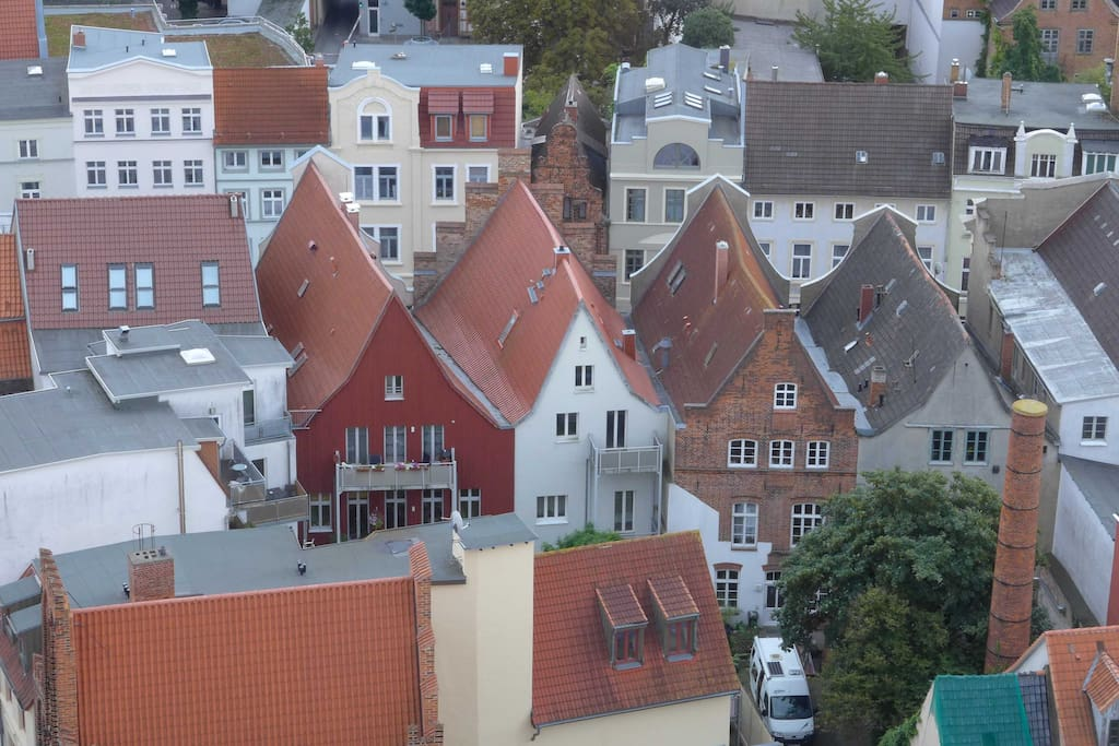 Vogelperspektive / view from St Mary clock tower