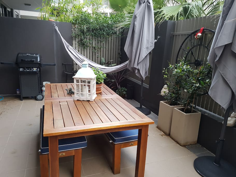 BBQ and outside living area