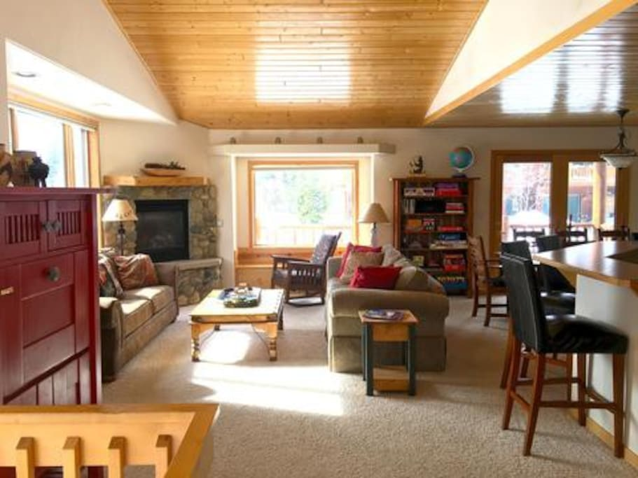 Spacious Open Floor plan is perfect for a family get-together or a multi-family get-away