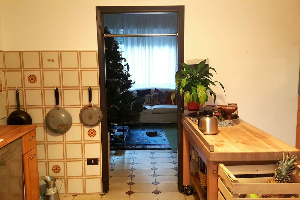 The kitchen at noon