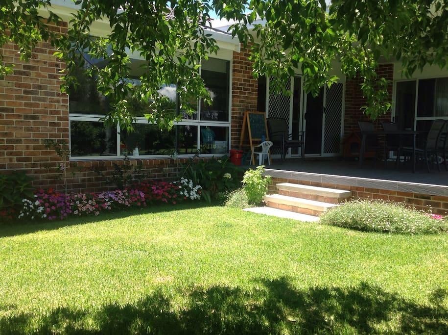 Private patio and garden