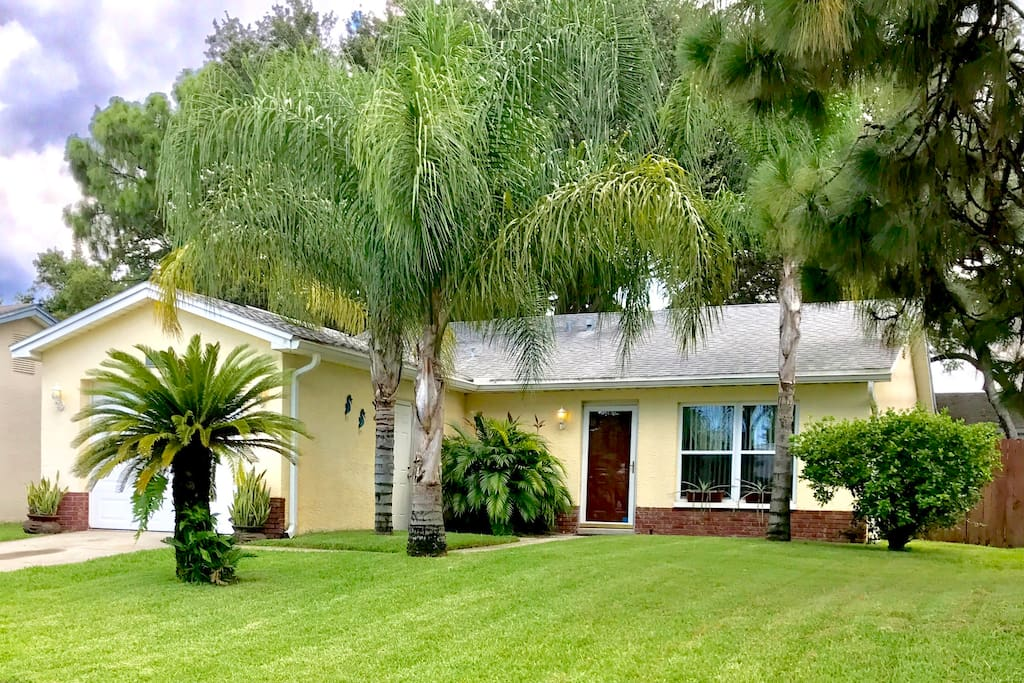 The Clearwater Casa ☺ Open floor plan, ceiling fans in each room, room air purifier, new high efficiency air conditioner, fenced yard, driveway parking.