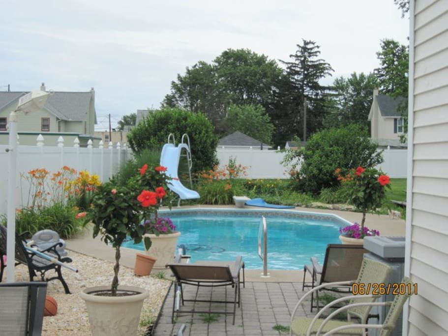 During the summer months enjoy a dip in the pool.