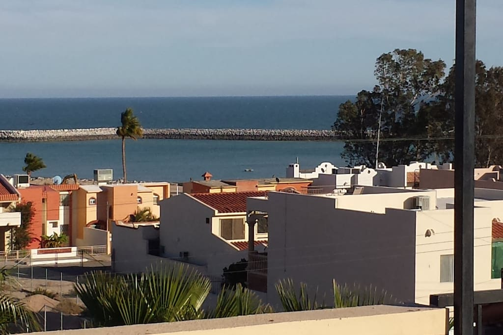 Shows distance from the CondoApartment to the Marina. Picture was taken from the deck of a home across the street.