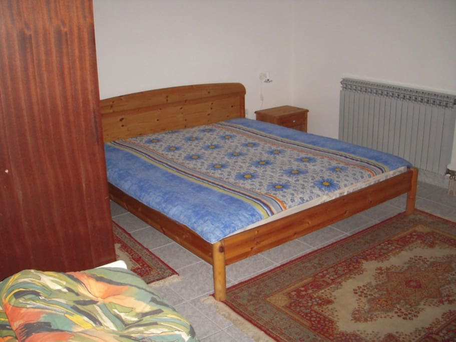 The bed in one of the bedrooms