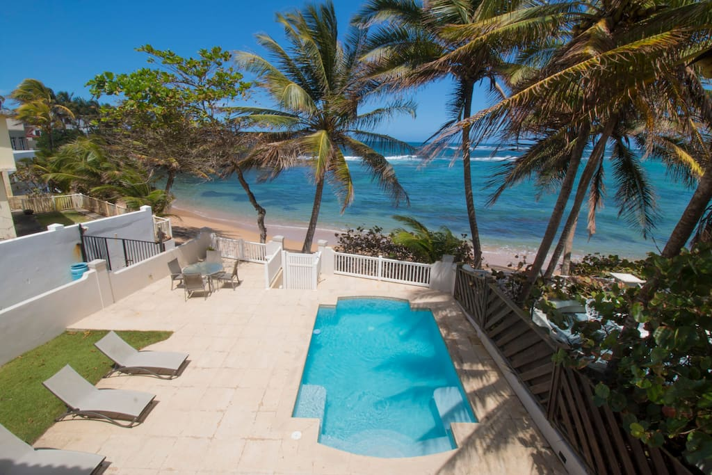 Private pool and private beach