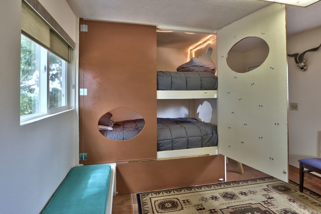 XL Bunk Beds - Open and lighted