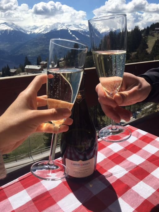 Cheers to the view!